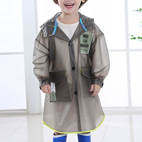 ZZHF Yuyi Transparent verdicken Kinder Regenmantel/Kindergarten Baby Schultasche Bit Convenience Regenmantel/Schüler Mode Langen Abschnitt Poncho (3 Farben optional)