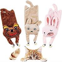 BarleyCorn 猫おもちゃ 猫じゃらし猫 おもちゃ ねこじゃらし 猫噛みおもちゃ キャットニップの動物ぬいぐるみおもちゃ 鈴付き またたびぐるみ 人気 一人遊び 歯垢除去 耐久性 無害 肥満解消 興奮した猫 (ピンク)