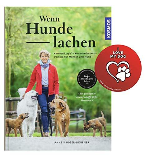Kosmos Wenn Hunde lachen: HarmoniLogie® – Kommunikationstraining für Mensch und Hund Gebundenes Buch + Hunde-Sticker by Collectix
