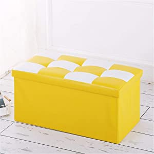 Gfdsase Durable Collapsible Toy Storage Organizer Toy Box Folding Storage For Kids Bedroom Perfect For Household Storage  Fabrics Toys Easy Care  Color Yellow  Size Free size