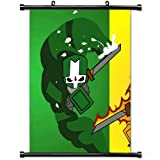 MiniGao Wall Scroll Poster with Castle Crashers Characters Arm Magic Graphics Home Decor Wall Posters Fabric Painting 32 X 48 Inch