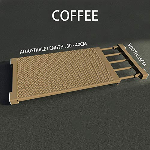 PCLRXA Hometrainer gereedschap, koffie 30-40 cm creatieve multifunctioneel inklapbare kast organizer rek verstelbare keukenkast opberghouder kast rek garderobe organizer rek