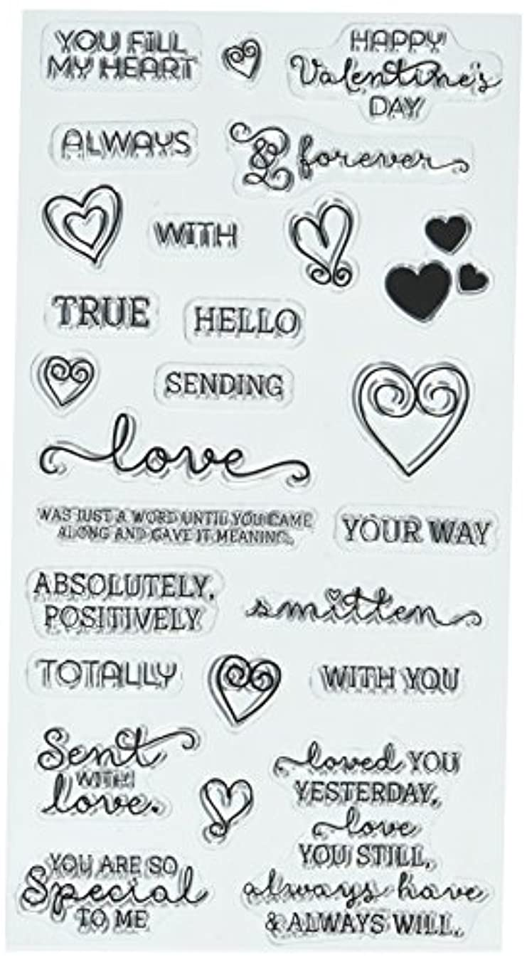 Hampton Art Love Words Clear Stamps 4