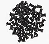 Bfenown Lot 100 pcs Replacement 3.5' HDD 6#-32 Flat Phillips Head Hard Drive Disk HDD Screws for comperter pc