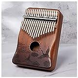 ATRNA Kalimba 17 Key, Thumb Finger Piano Sanza 17 Keys Solid Wood Finger Piano Portable Instrument Portable Gifts Beginners Teaching Toys Girls Boys Educational Toys