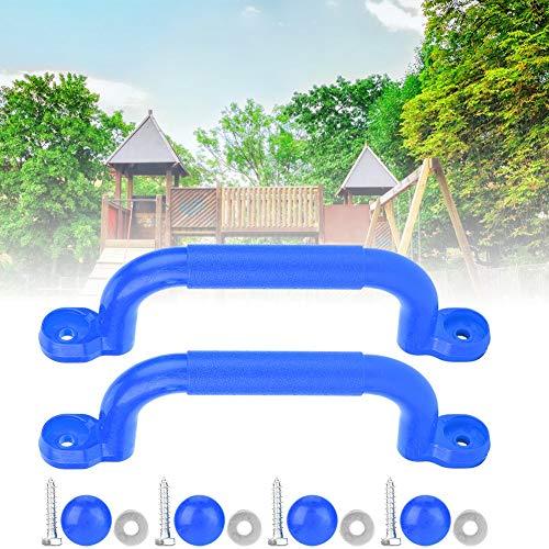 Alomejor Spiel Haltegriffe Kinder Haltegriffe Massive Sicherheitsgriffe Spielplatzgriffe für Klettergerüste Tree House Dens Play House(Blau)