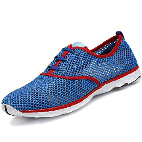 SAGUARO Zapatillas de Natación Ecado Rápido Masculino Interior Minimalistas Zapatos para Agua Respirable Sin Cordones Calzado Hembra Caminar Fitness Al Aire Libre Kayak Pescar, Aqua Azul 45