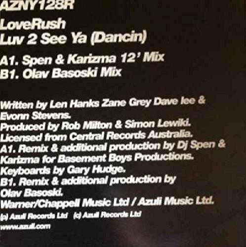 Loverush - Luv 2 See Ya Dancin Remixes - Azuli Records