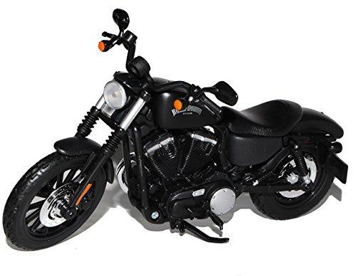 Maisto Haley Davdson Sportster Iron 883 Schwarz 2014 1/12 Modell Motorrad mit individiuellem Wunschkennzeichen