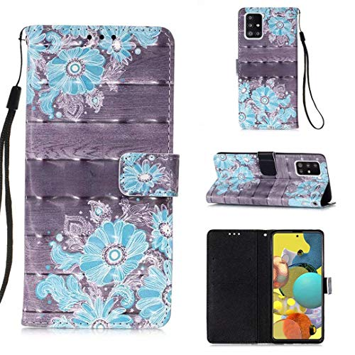 WJMWF Hoesje voor Samsung Galaxy A51 5G 3D Patroon PU lederen Portemonnee Flip Cover Magnetische Sluiting,met Kaartsleuf…