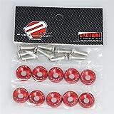Raspbery Auto refitting accumulatore M6 Viti accumulatore per Protezione Pad JDM Dadi bulloni parafango Targa Decorazione Vite Sostituzione Automatica