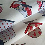 ONECHANCE Tela de algodón Tela de tela Tela de la cortina del mantel de DIY hecho a mano por The Meter 100x150cm (39'x59') Color flor de ave Size 1 metro