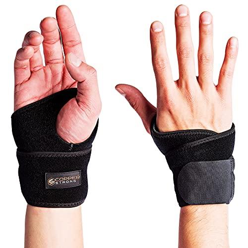 Copper Joe Handgelenkstütze mit Höchstem Kupfergehalt – Handgelenk Bandage für Karpaltunnel, bei Arthritis oder Sehnenentzündungen – Handgelenkbandage für Männer und Frauen für Rechte und Linke Hand