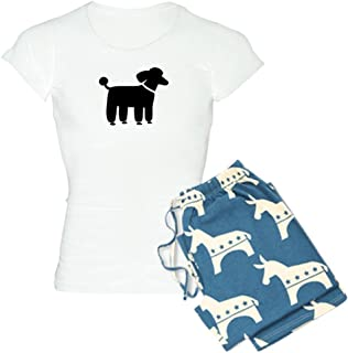 Black Poodle Women's Light Pajamas-Womens Novelty Cotton Pajama Set, Comfortable PJ Sleepwear