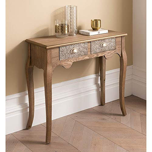 homesdirect365 2 Drawer Antique French Style Console Table