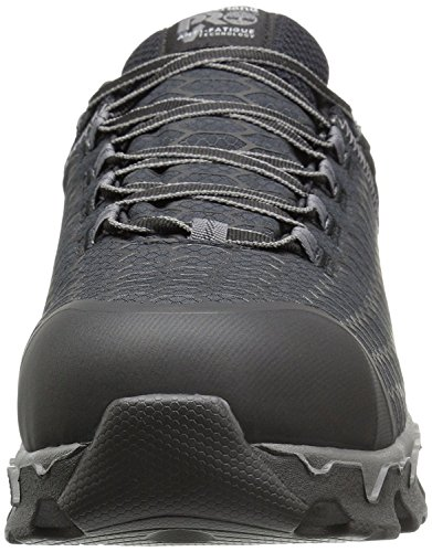 Timberland PRO Men's Powertrain Sport Alloy Safety Toe Electrical Hazard Athletic Work Shoe, Black Synthetic/Orange, 9