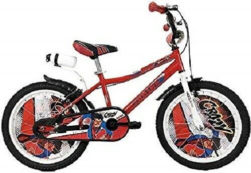 Bicicleta para niño de 16 pulgadas CRAZY IBK de una sola velocidad, roja