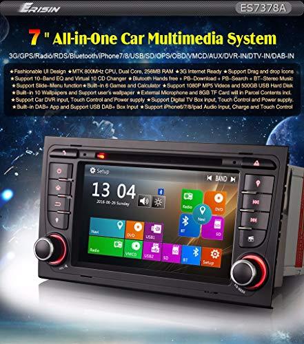 Erisin ES7378A 7' DVD GPS para Audi A4 Seat Exeo