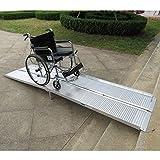 Festnight 10 FT Non-Skid Folding Ramp Aluminum Alloy Wheelchair Loading Traction...