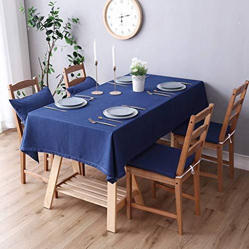 ILMF Algodón Lino Mantel, Prueba de Polvo Anti-Sucio Decoración Mantel para Mesa Rectangular Lavable Color Sólido Cubierta para Mesa Adecuado para Banquete Bufé Fiesta-ES-110X170cm(43X67pulgada)