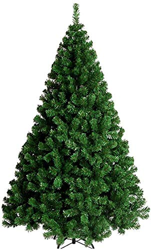 IG Living Room Christmas Trees Pre Lit Decoration Premium Artificial, Spruce Hinged with Metal Stand Christmas Pine Tree Eco-Friendly Natural Alpine,Green,4Ft(120Cm)