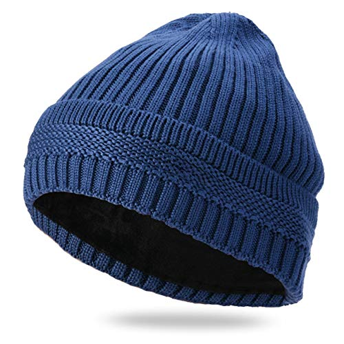 Liandan Men's And Women's Windproof Warm Thick Thread Plus Fleece Hooded Knit Hat For Riding Skiing Outdoor Sports Comfortable Ear Protection (Color : C)