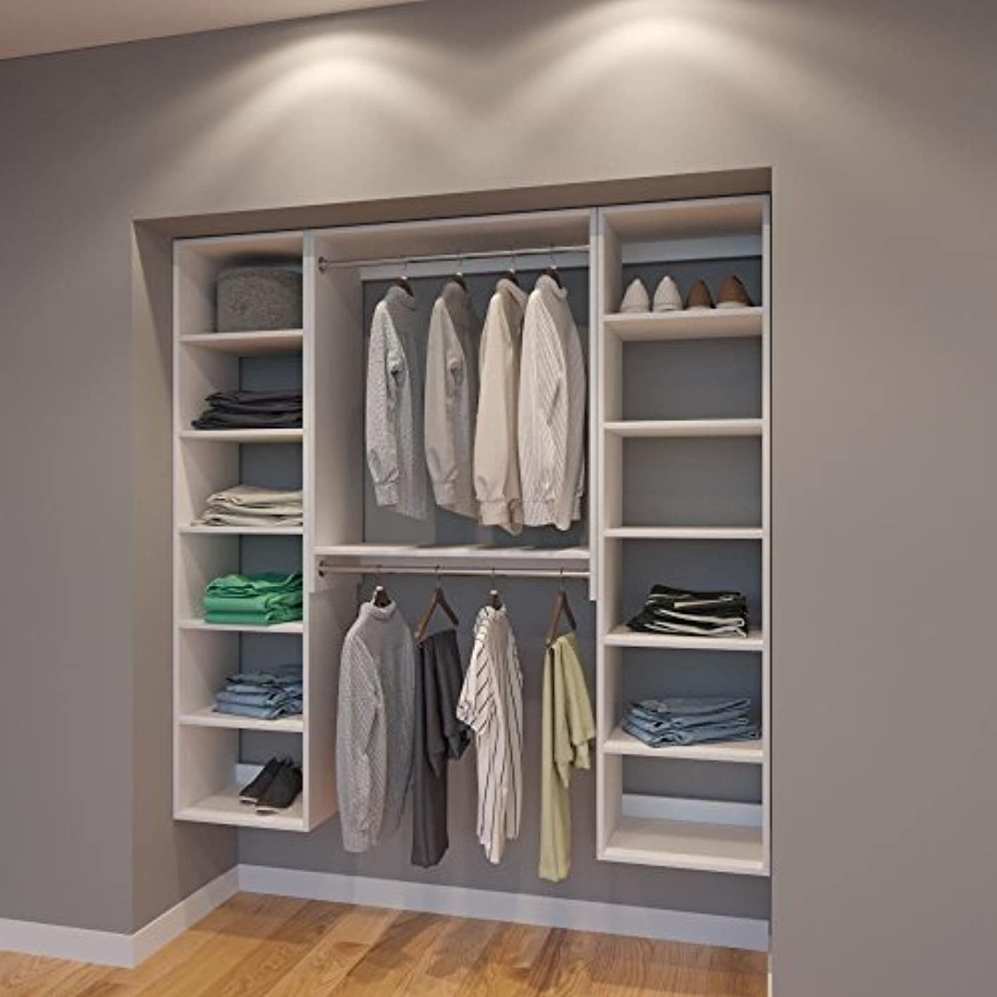 Modular Closets 6 FT Closet Organizer System - 72 inch - Style G