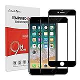 Lanhiem [Lot de 2 Verre Trempé iPhone 7 / iPhone 8 [Couverture Complète] [Garantie à Vie] dureté 9H Film de Protection en...