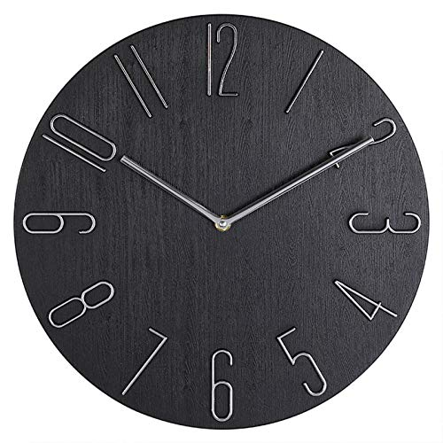 Non-Ticking Battery Operated Round Clock