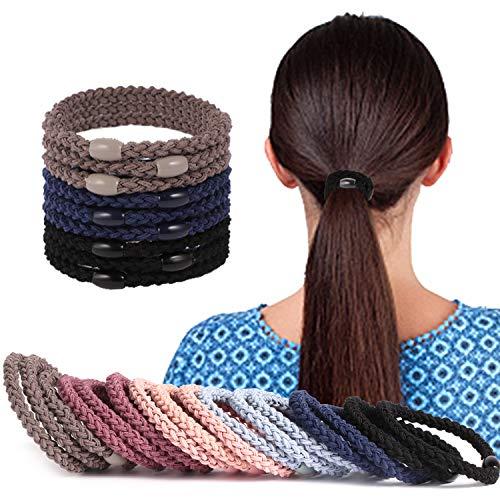 ZCZY 9 Stück Haargummis, Premium Gummibänder Haarbänder, Elastischer und aus Baumwolle - Gummibänder für Frauen und Mädchen Dutt, Haargummi Haarband Pferdeschwanz Gummi