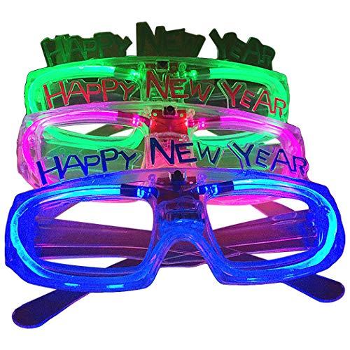Zoylink 5 Pares Gafas De Fiesta De Año Nuevo Iluminar Gafas Fiesta De Disfraces Para Navidad