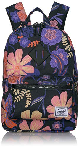 Herschel Kids' Heritage Backpack, Night Floral Black, 9L