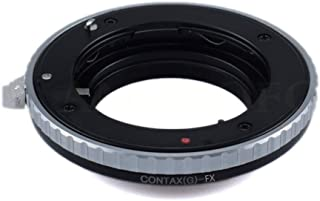 CY G to FX Adapter Compatible with for Contax G CY G Lens to & for Fuji Film X-A1,X-A2,X-A3,X-A10, X-M1.X-E1,X-E2,X-E2S,X-T1,X-T2,X-T10,X-T20,X-Pro1,X-Pro2, X100F Camera