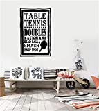 uizesz Office Classroom Motivational Inspirational Quote Family Love Vinyl Saying Table Tennis Doubles...