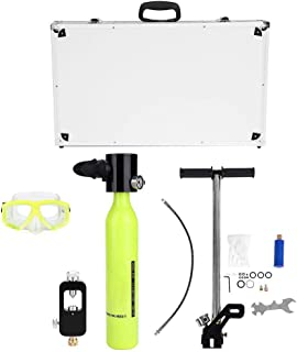 Equipo de Buceo, Mini Cilindro de oxígeno para Submarinismo Bomba de Aire de Alta presión Equipo del Cilindro de llenado para el Tanque de llenado Adaptadores para la respiración bajo el Agua