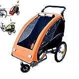 Papilioshop Fox - Remolque para el transporte de 1 niño en bicicleta (naranja)
