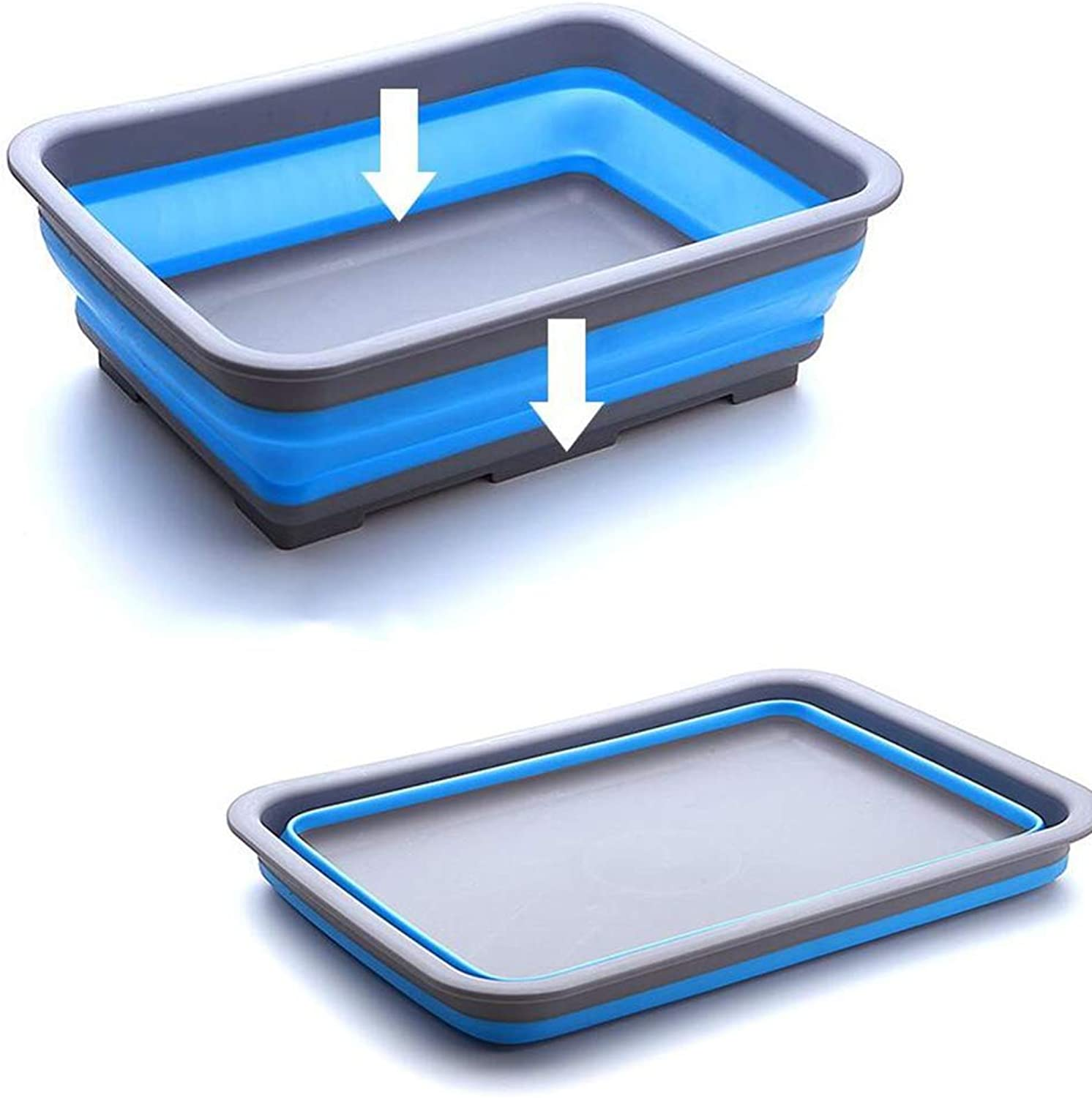 Collapsible Washing Up Bowl  Ideal for Camping Foldable Square washbasin Outdoor Travel Portable washbasin Washtub Creative Home Home