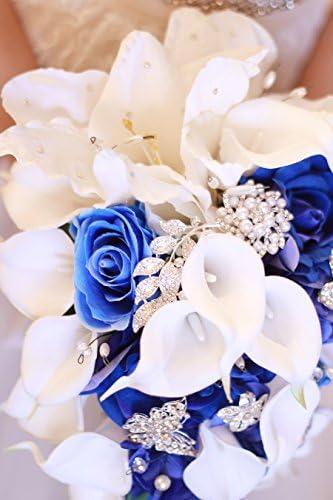 Royal blue bouquet _image2