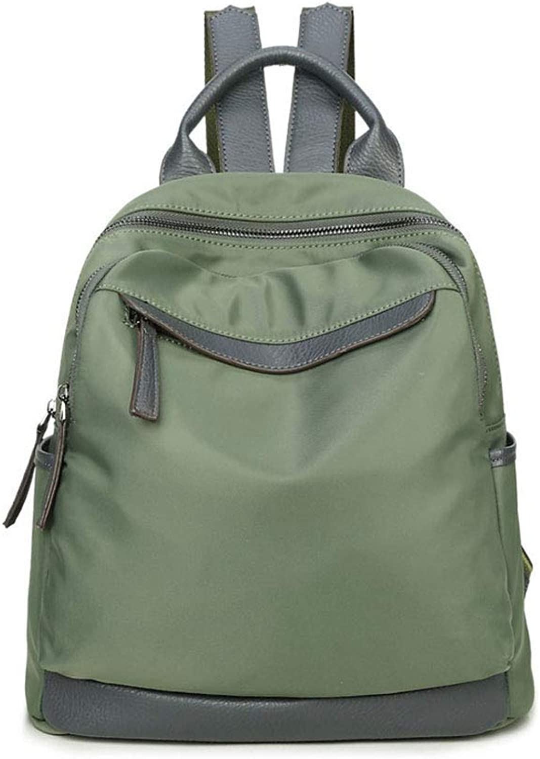 KIMSAI Stylish casual lightweight rucksack Simple student bag Laptop bag Large capacity backpack Travel package Leisure mountaineering bag Light outdoor,Green,30  14  30CM