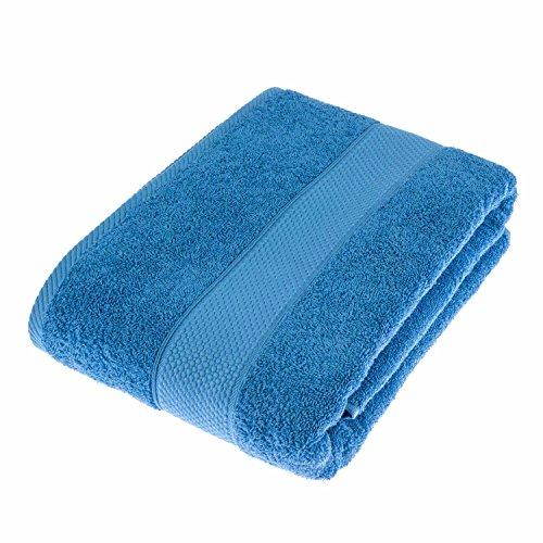 HOMESCAPES Toalla baño Grande, 100% algodón Turco Absorbente y Suave, Color Azul Cobalto 100 x 150 cm