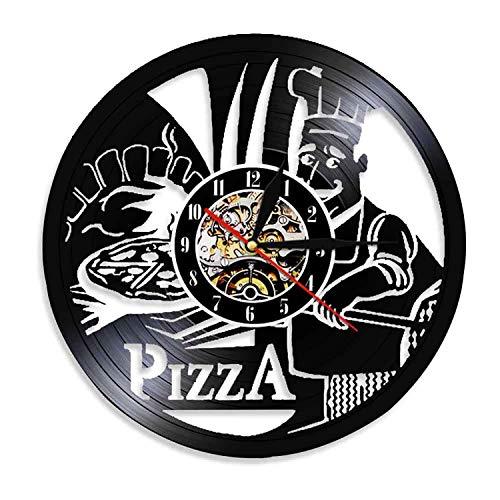 HQYMY Récord de Vinilo Reloj de Pared Chef Utensilios de Cocina Serie silencioso Reloj de Pared Creativo decoración de Pared (Style : D)