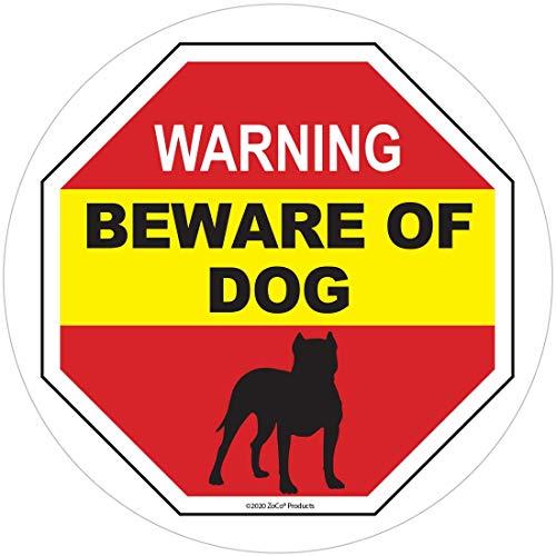 Beware of Dog Warning Sticker - Beware of Pitbull Window Sticker - Beware of Dog Sign Decal - Dog on Premises Sign - No Trespassing Window Cling - Beware of Dog Window Sticker (1)