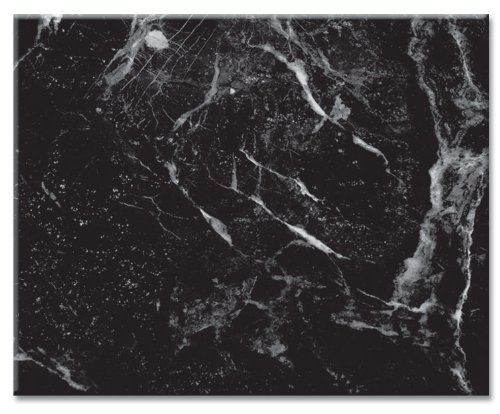 CounterArt Black Marble Design Tempered Glass Counter Saver - 15' x 12'