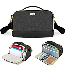 Luxja Carrying Case for Cricut Joy, Bag for Cricut Joy and Tool Set (with Accessories Storage Section), Black (Bag Only…
