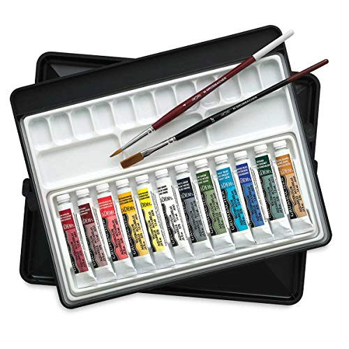 Grumbacher Academy Watercolor Artists' Sketchbox Set set of 12