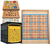 Barir Rompecabezas Juego de Mesa, Juguetes educativos con Desktop Intelligence Family Games cajón Número Rompecabezas de Madera de Juguete de Madera Sudoku Juego de Mesa for niños
