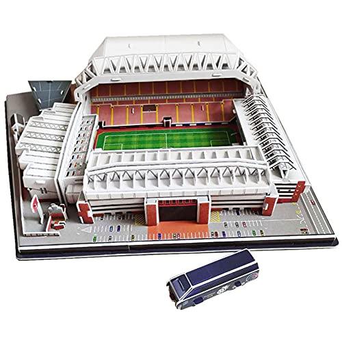 SY-Home DIY Puzzles im Yanfei Road Stadium, dreidimensionale 3D-Puzzles zum BAU eines Geburtstagsgeschenk-Souvenirs für EIN Fußballfeld