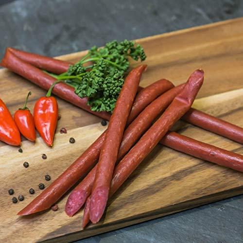 Pfefferbeißer | 11 Stück der Harzer Rohwurstspezialität | Perfekte Brotzeit für unterwegs | Knackwurst