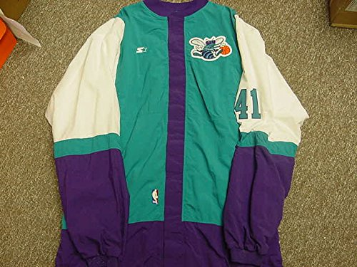 Elden Campbell Charlotte Hornets Game Worn Jacket