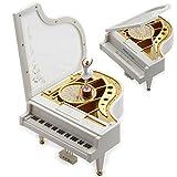 Sidiou Group Cadeau Créatif Saint-Valentin Laputa Piano Danseuses Filles Boîte à Musique Tournante Vintage Mécanique Classique Belle Ballerine Girl Octave Musical Box